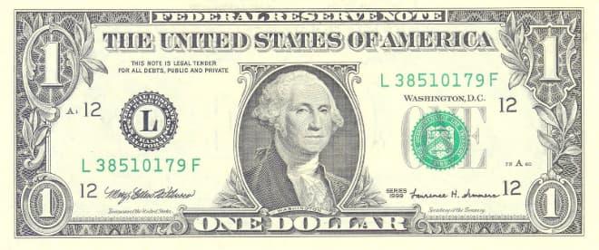 Hình ảnh tờ 1 USD