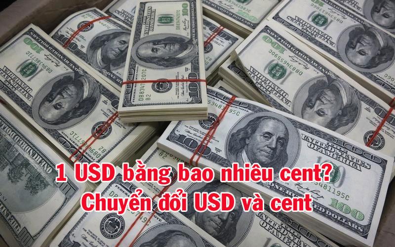 1 USD bằng bao nhiêu cent? Chuyển đổi USD và cent