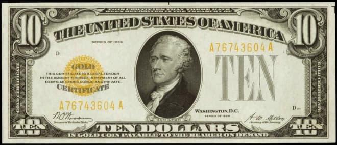 Hình ảnh tờ 10 USD