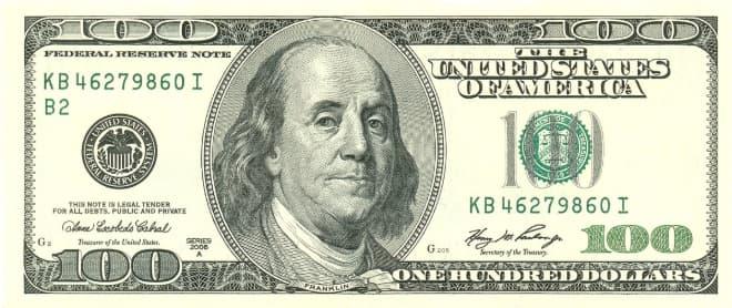 Hình ảnh tờ 100 USD