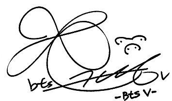 Chữ ký của Kim Taehyung
