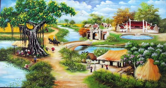 Tranh vẽ phong cảnh bằng màu nước