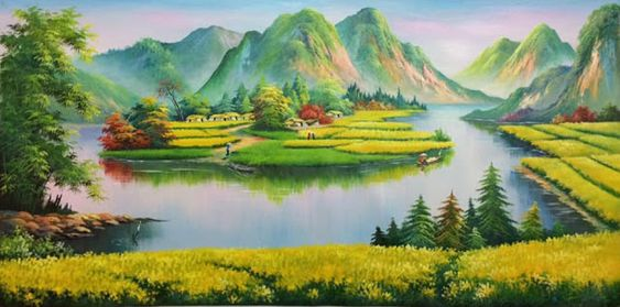 Tranh vẽ phong cảnh Acrylic