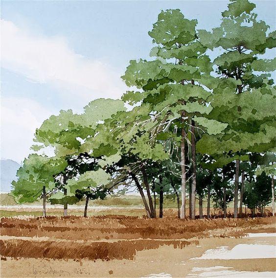 Tranh vẽ phong cảnh Anime
