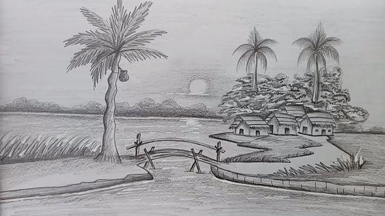 Tranh vẽ phong cảnh bằng bút chì