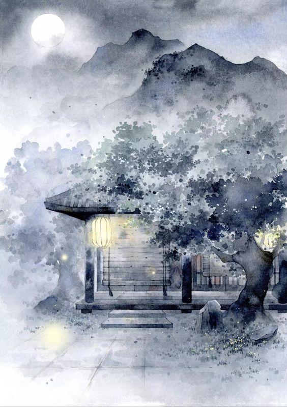 Tranh vẽ phong cảnh trắng đen