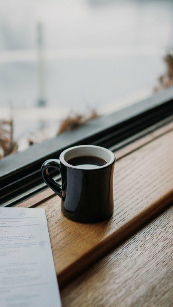 Hình nền điện thoại ly cà phê đẹp