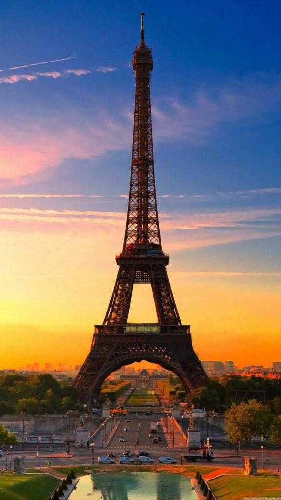Hình nền điện thoại đẹp tháp Eiffel