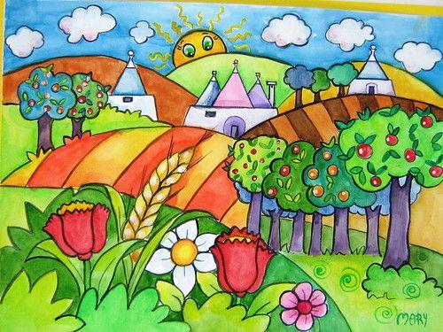 Tranh vẽ phong cảnh lớp 2