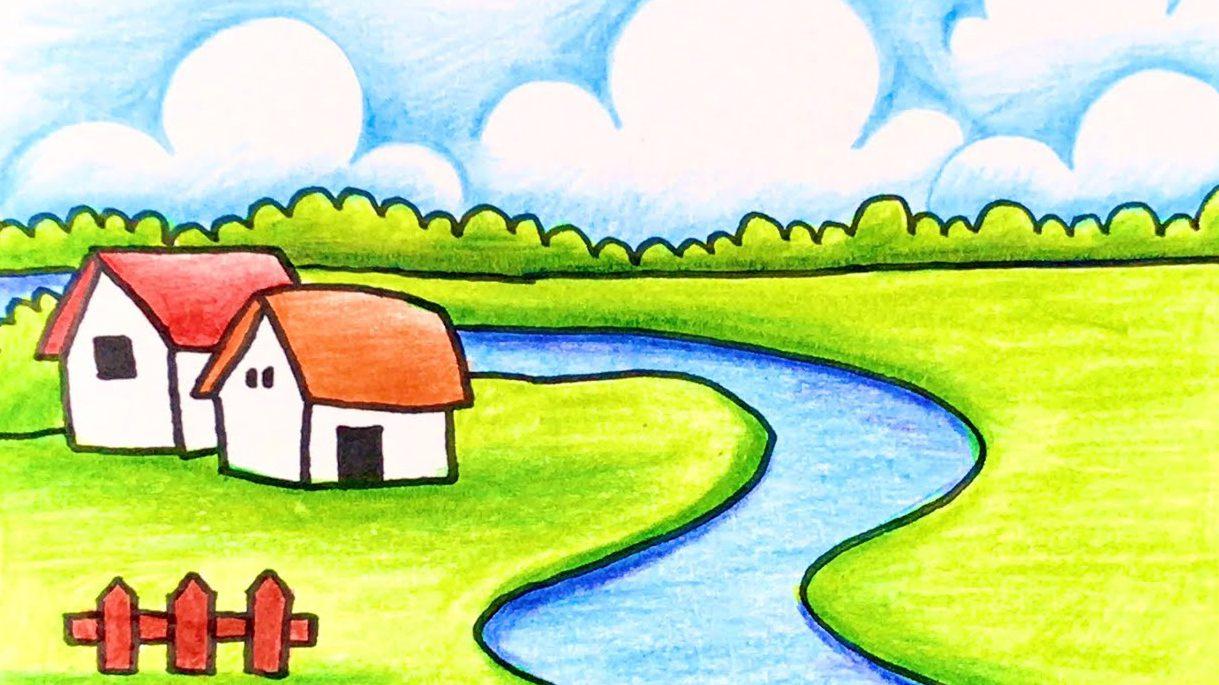 Tranh vẽ phong cảnh lớp 1
