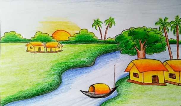 Tranh vẽ phong cảnh lớp 4