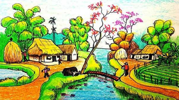 Tranh vẽ phong cảnh lớp 6